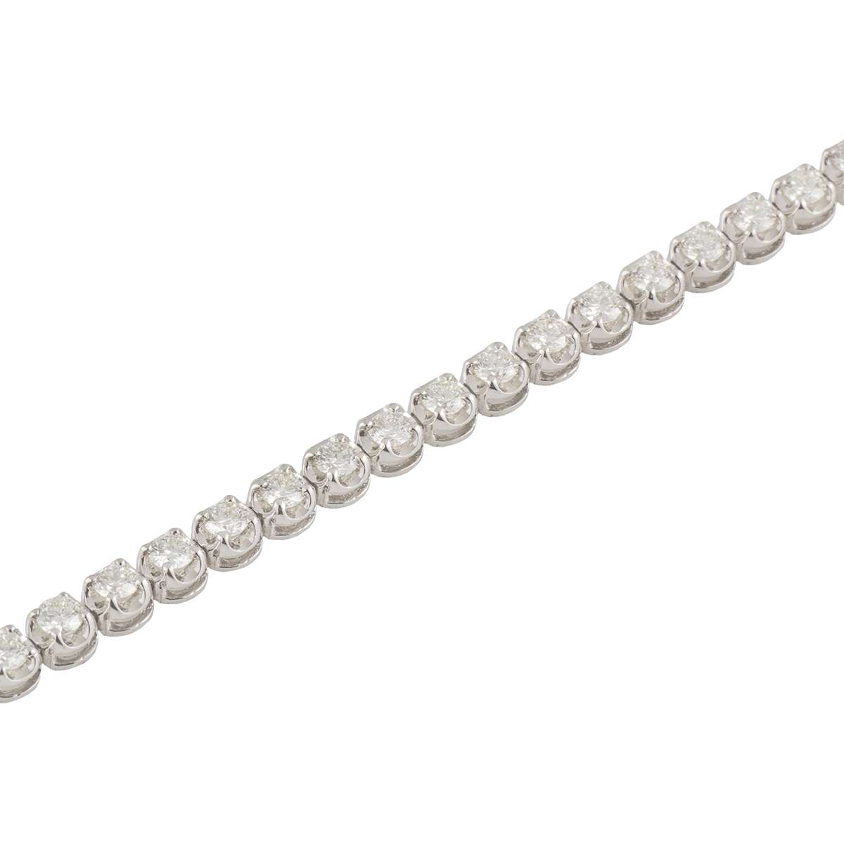 18k White Gold Diamond Line Bracelet 2.71ct G-H/VS